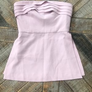 C/MEO COLLECTIVE strapless top w/pleating/slots